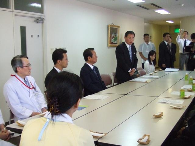 県老健協と小沢代表の懇談会